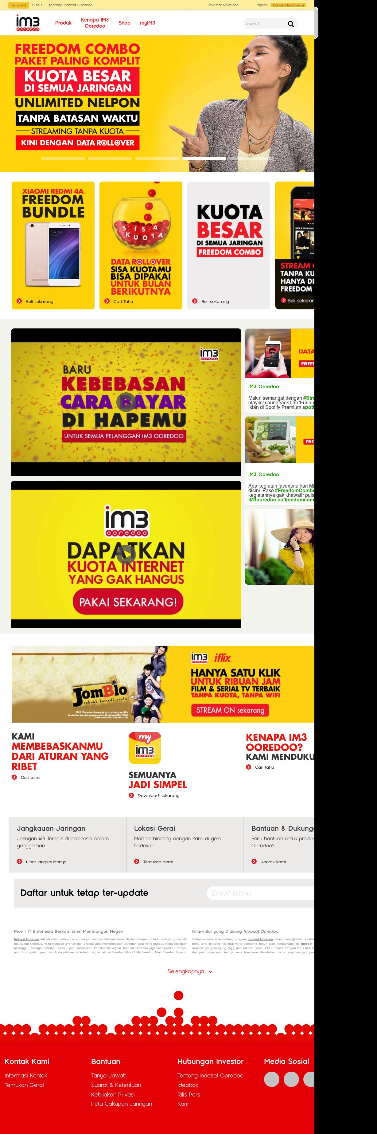 Indosat Ooredoo Competitors Revenue And Employees Owler Company Data Yellow 1gb 7 Hari Ooredoos Website Screenshot On May 2017