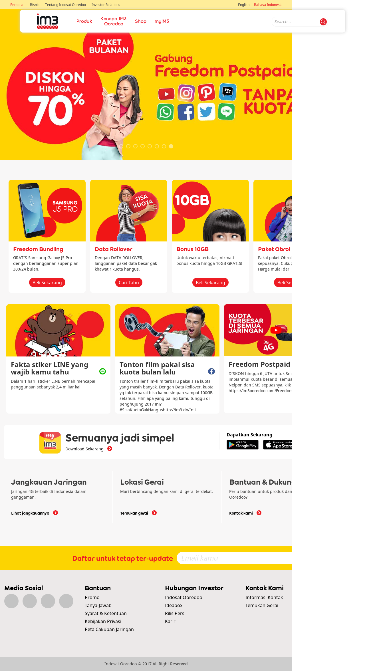 Indosat Ooredoo Competitors Revenue And Employees Owler Company Voucher 1 Gb Unlimited Apps Ooredoos Website Screenshot On Sep 2017