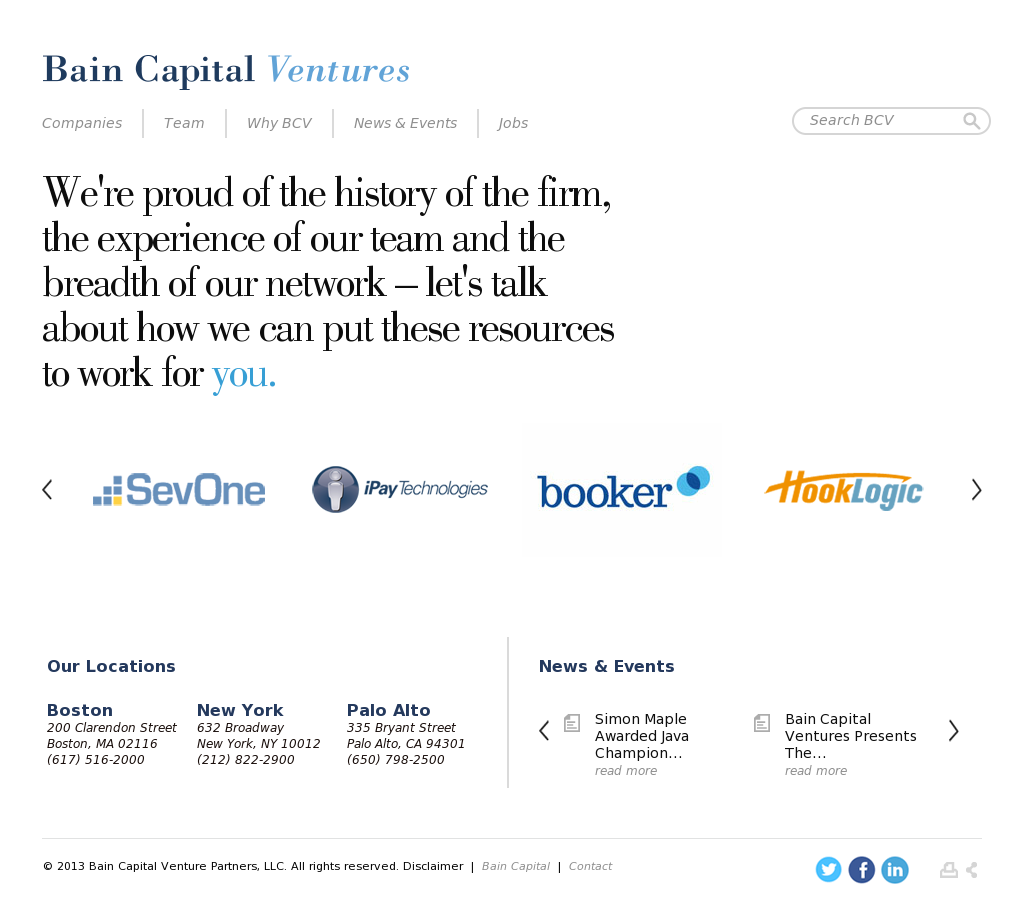 Bain Capital Ventures Competitors, Revenue and Employees