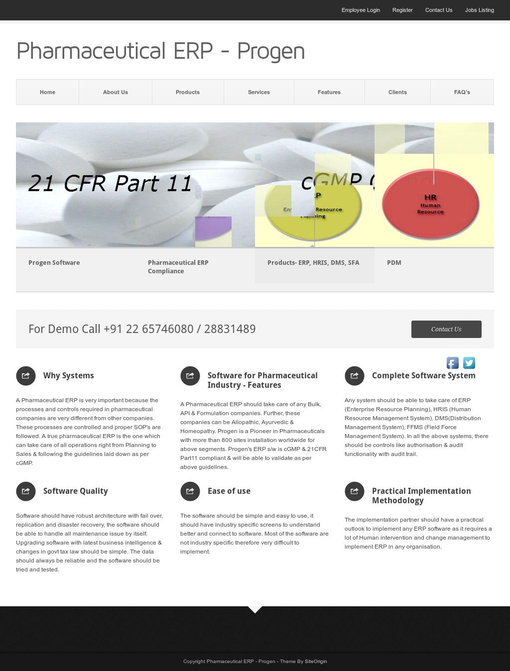 Pharmaceutical ERP - Progen Competitors, Revenue and