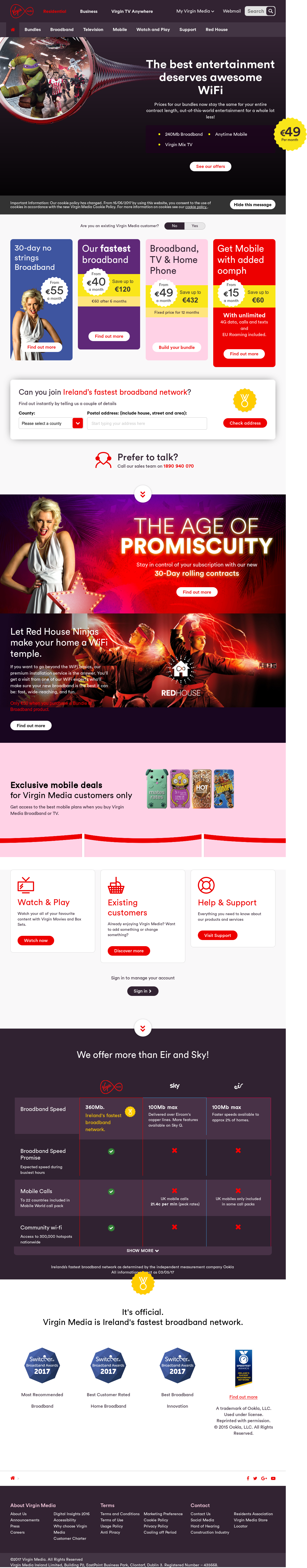 What from who is virgin mobiles competitors opinion