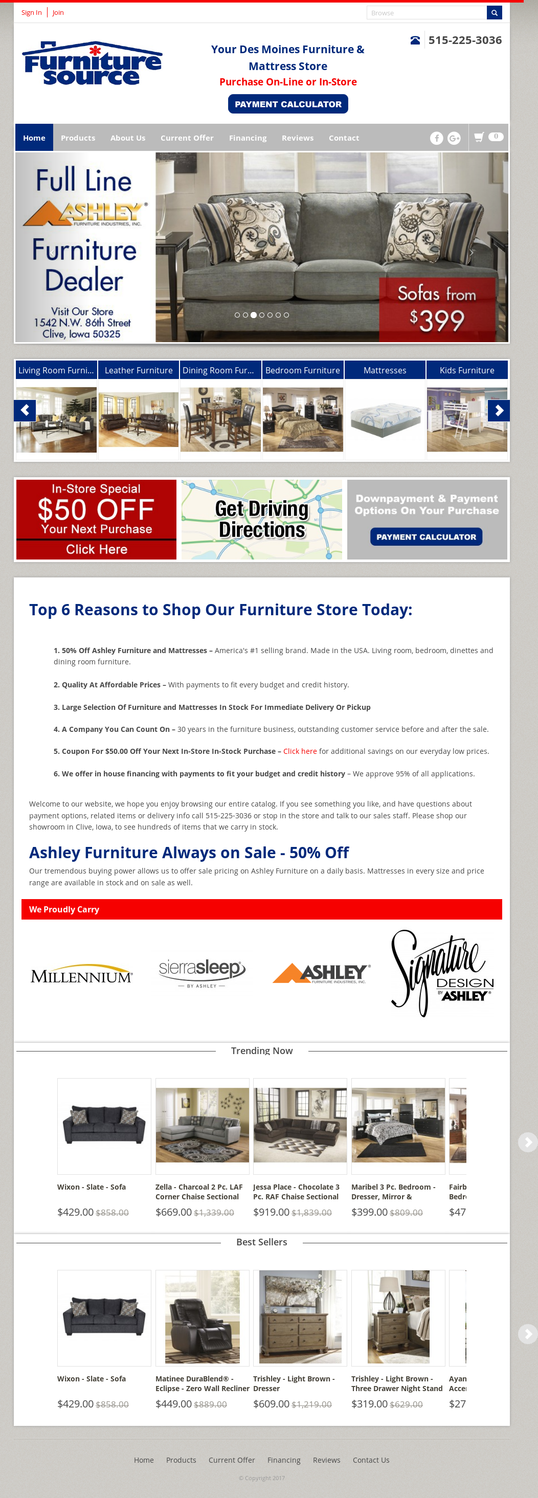 Furniture Source Website History