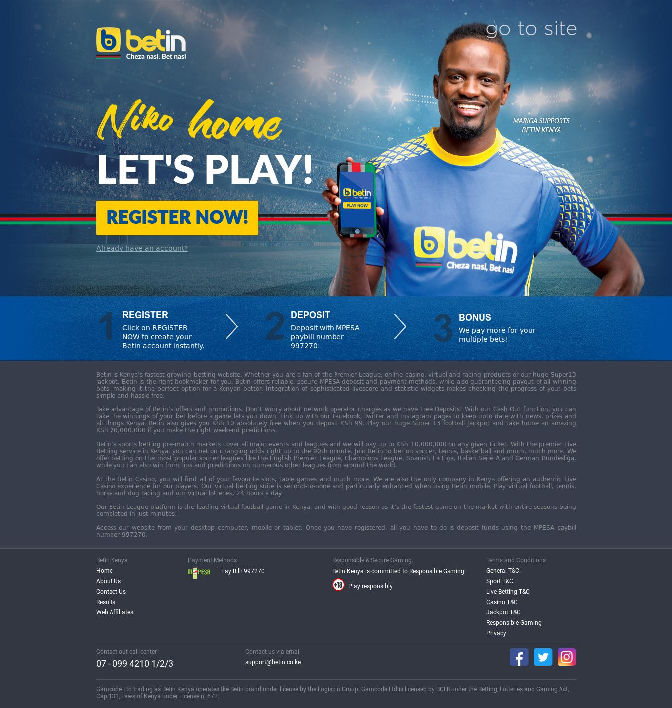 Latest Betin Kenya App