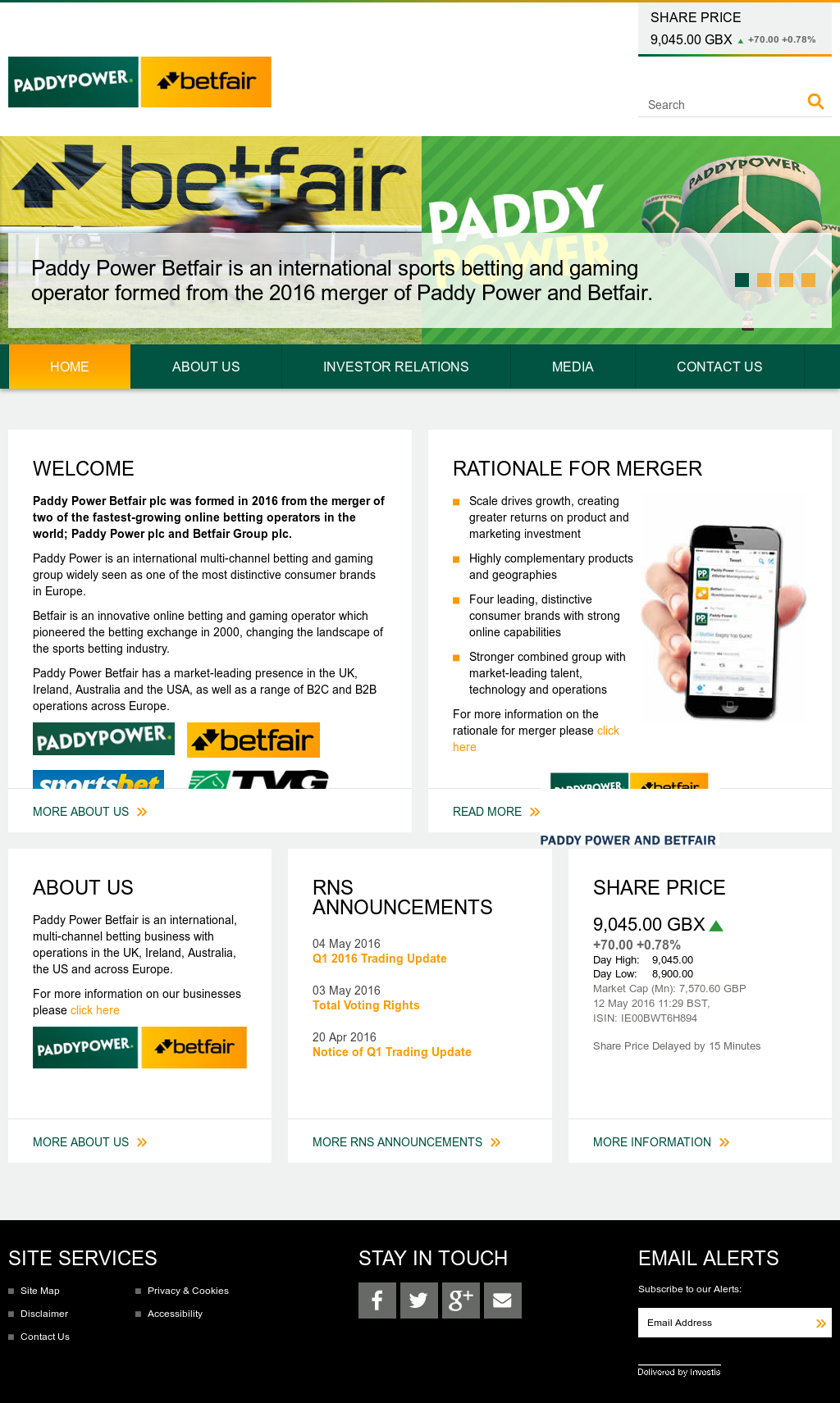 Paddy Power Betfair Competitors, Revenue and Employees