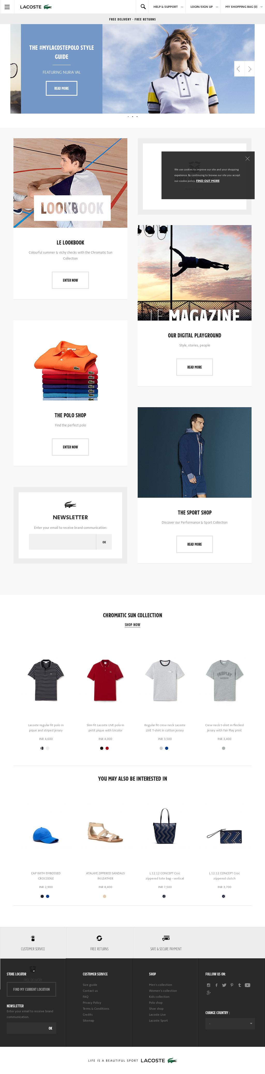 24191cdb5a6 Lacoste Online Boutique Competitors