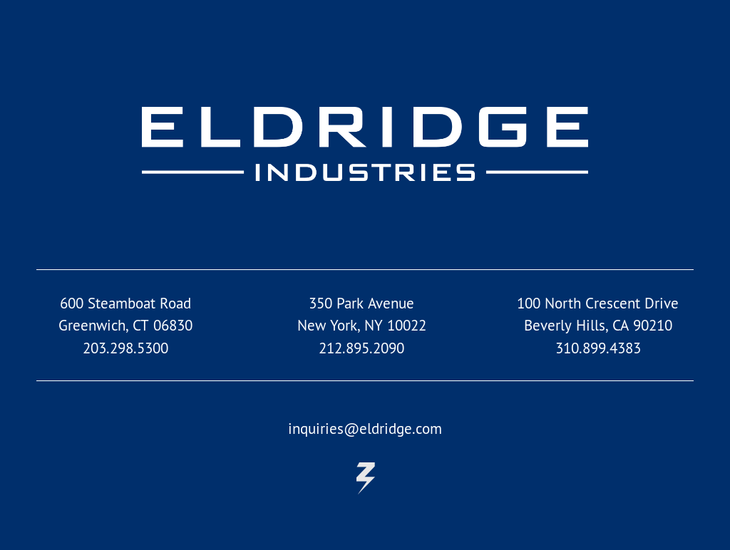 Eldridge Industries Competitors, Revenue and Employees