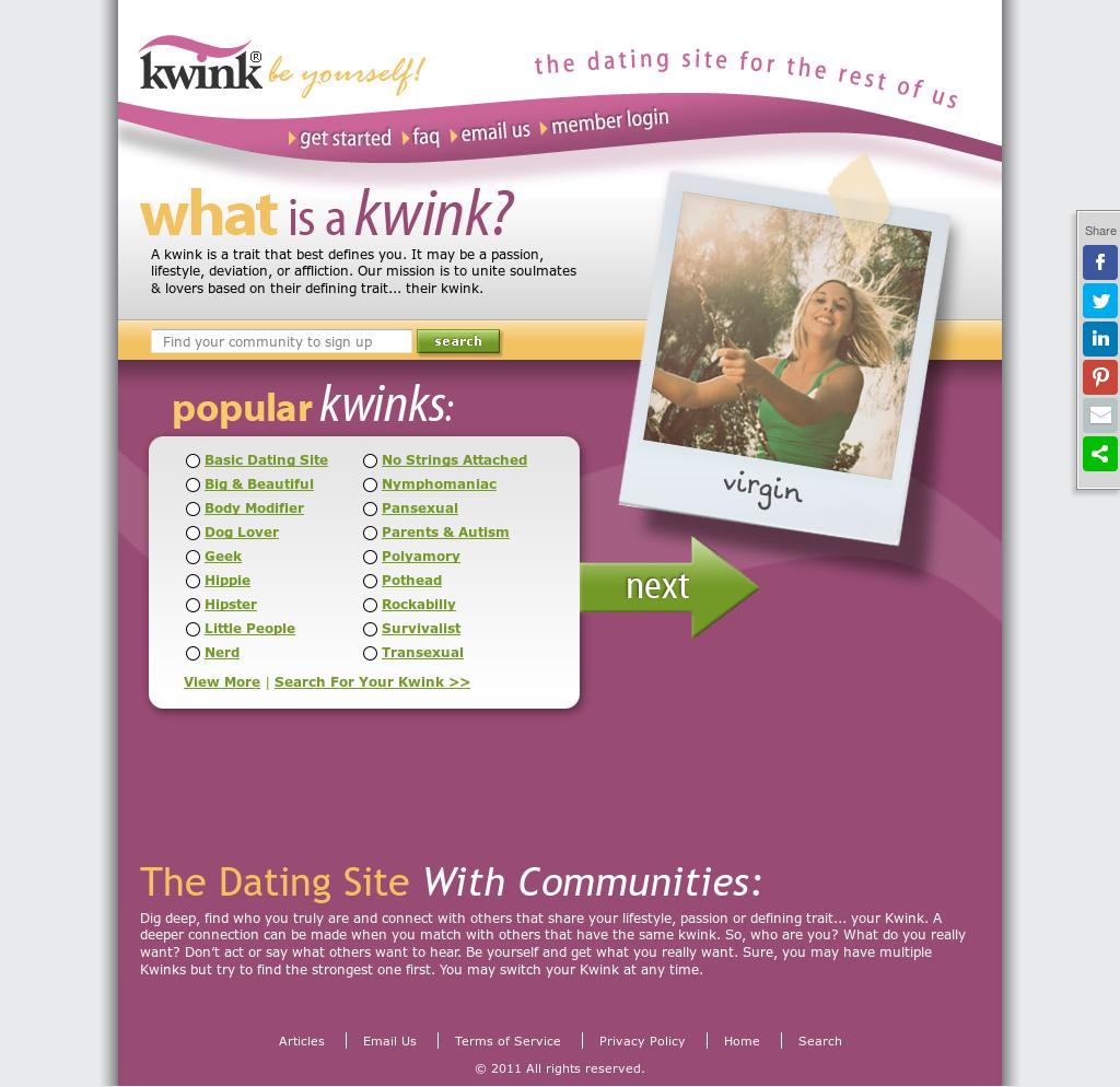 kwink dating