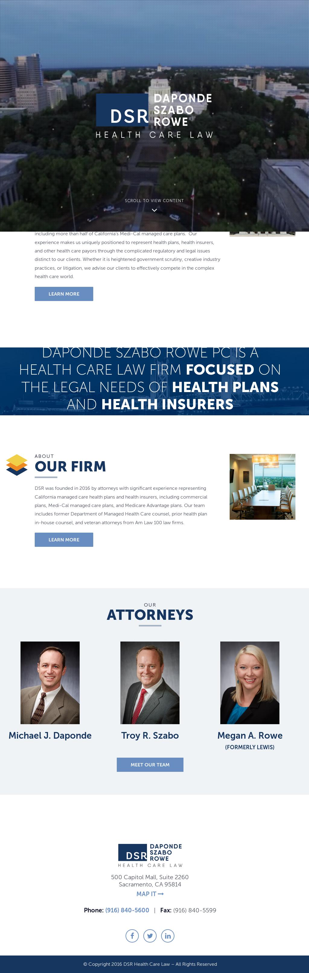 Daponde Szabo Rowe Pc Health Care Law Competitors Revenue And