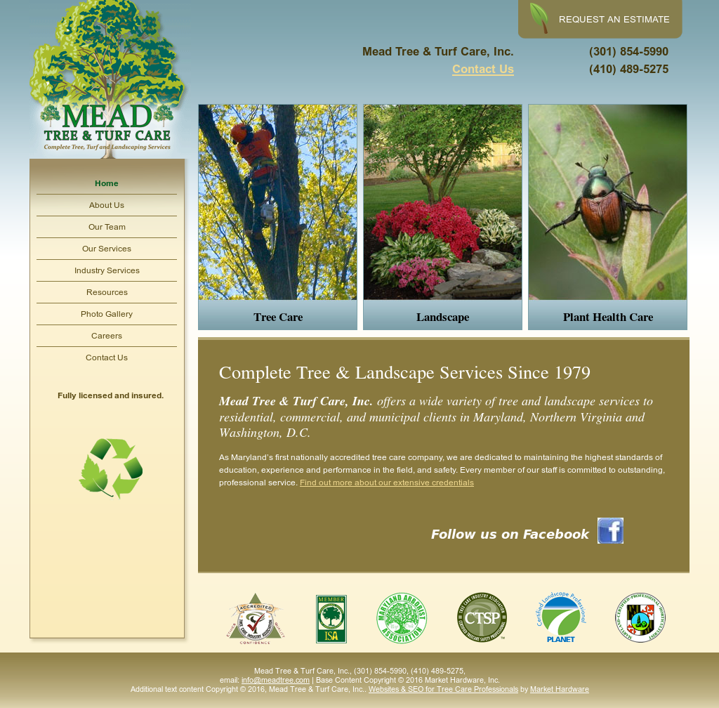 Mead Tree Turf Care Compeors Revenue And Employees Owler Company Profile
