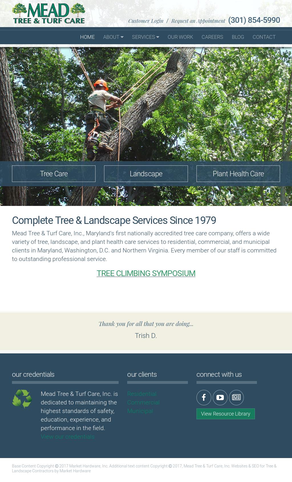 Mead Tree Turf Care Website History