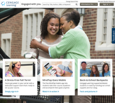 Cengage Learning website history