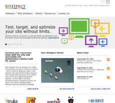 SiteSpect website history