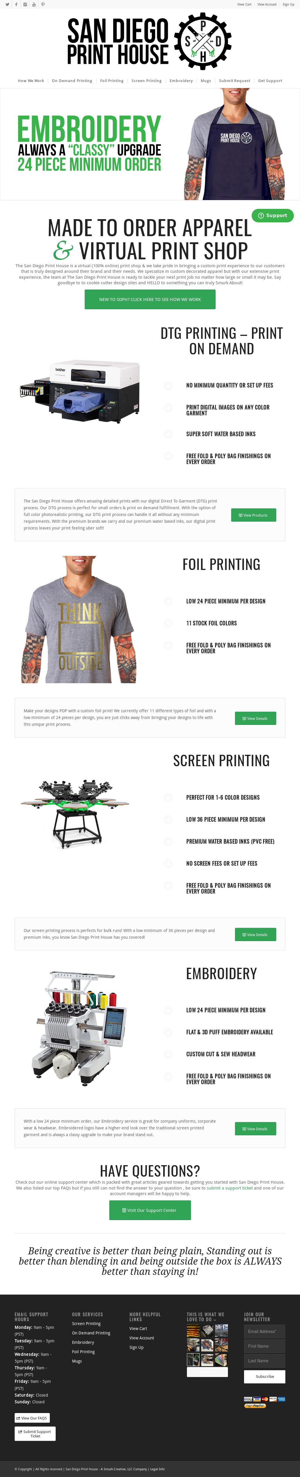 Custom Printed T Shirts San Diego Summer Cook