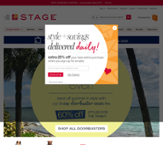Stage Stores website history