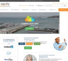 Xactly website history