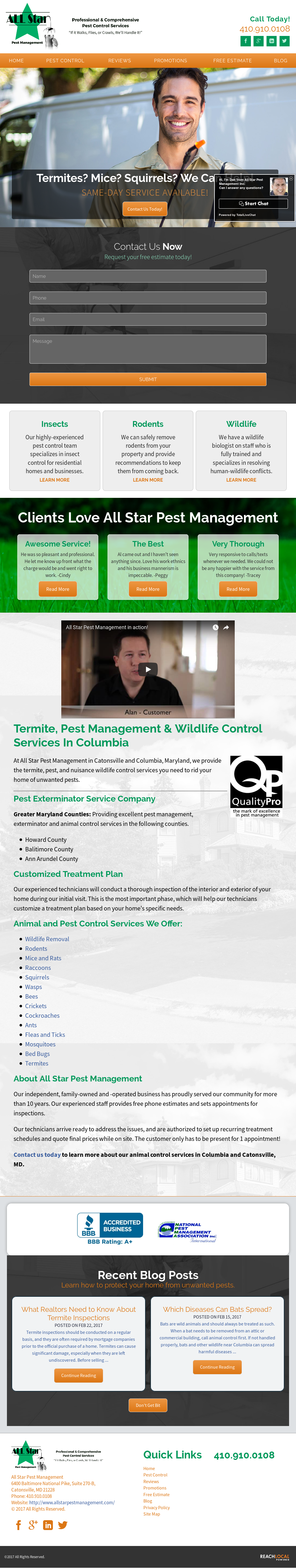 All Star Pest Management Competitors Revenue And Employees Owler