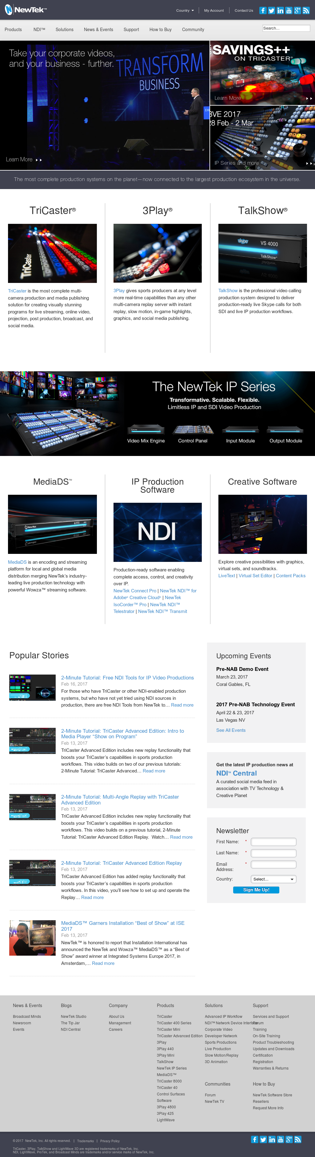NewTek Competitors, Revenue and Employees - Owler Company Profile