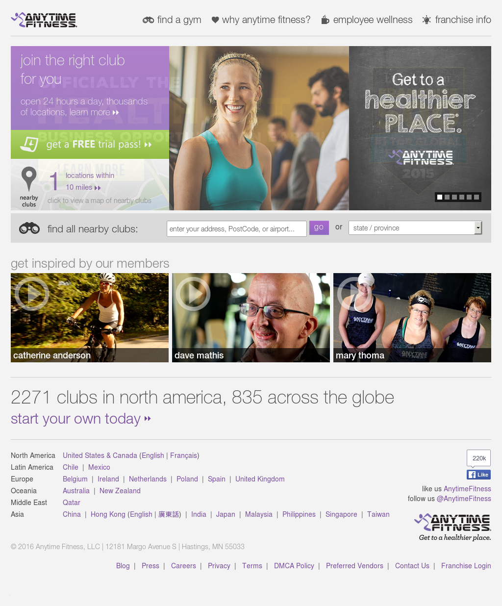 Anytime Fitness Competitors, Revenue and Employees - Owler Company ...
