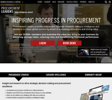 Procurement Leaders website history