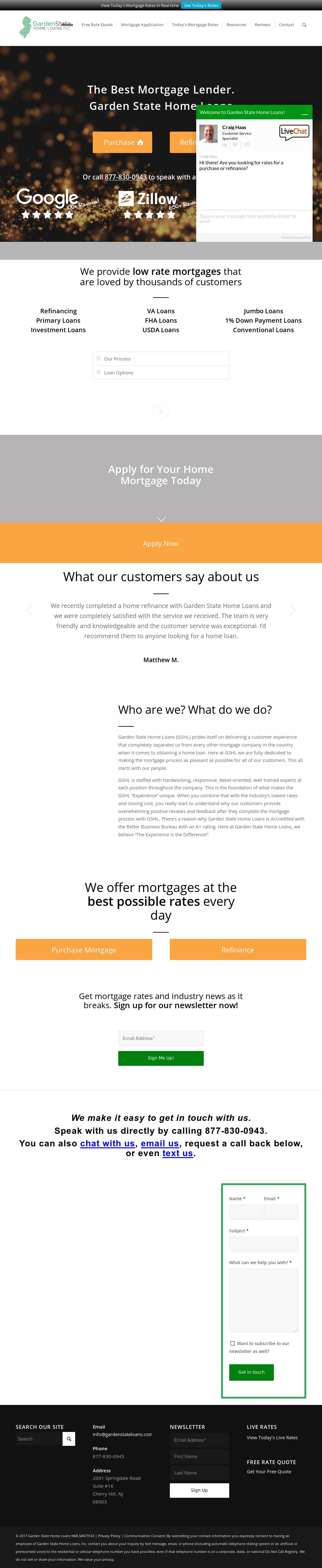 garden state home loans website history - Garden State Home Loans