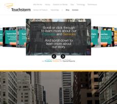 Touchstorm website history