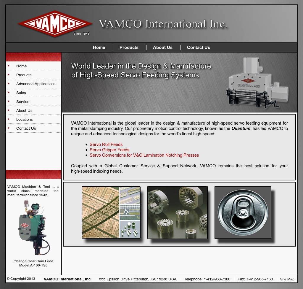 vamco international website history