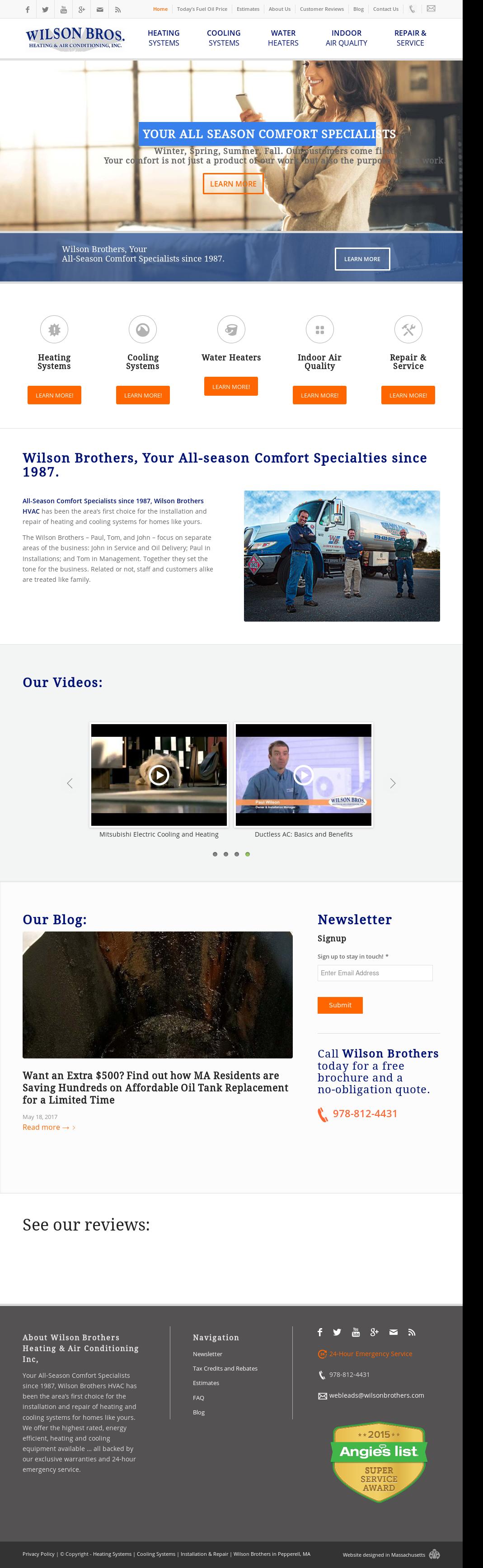 Wilsonbrothers Website History