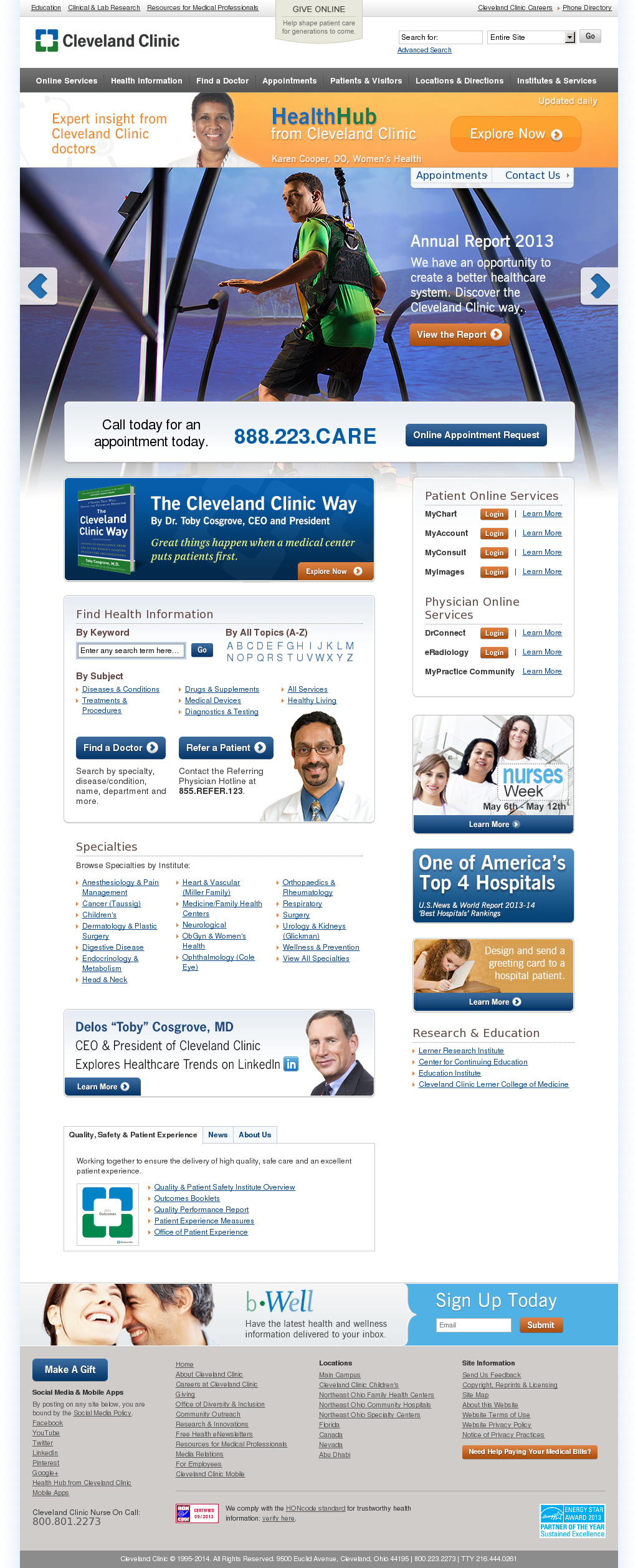 Cleveland Clinic Competitors, Revenue and Employees - Owler