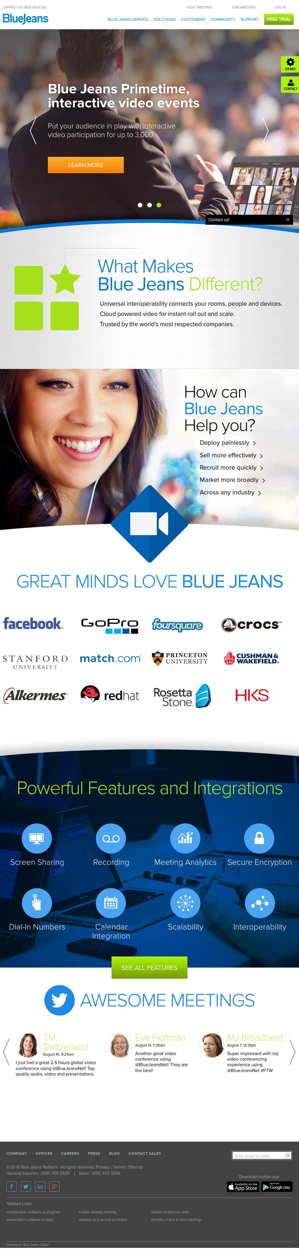 Blue Jeans Network Competitors, Revenue and Employees