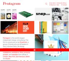 Pentagram website history