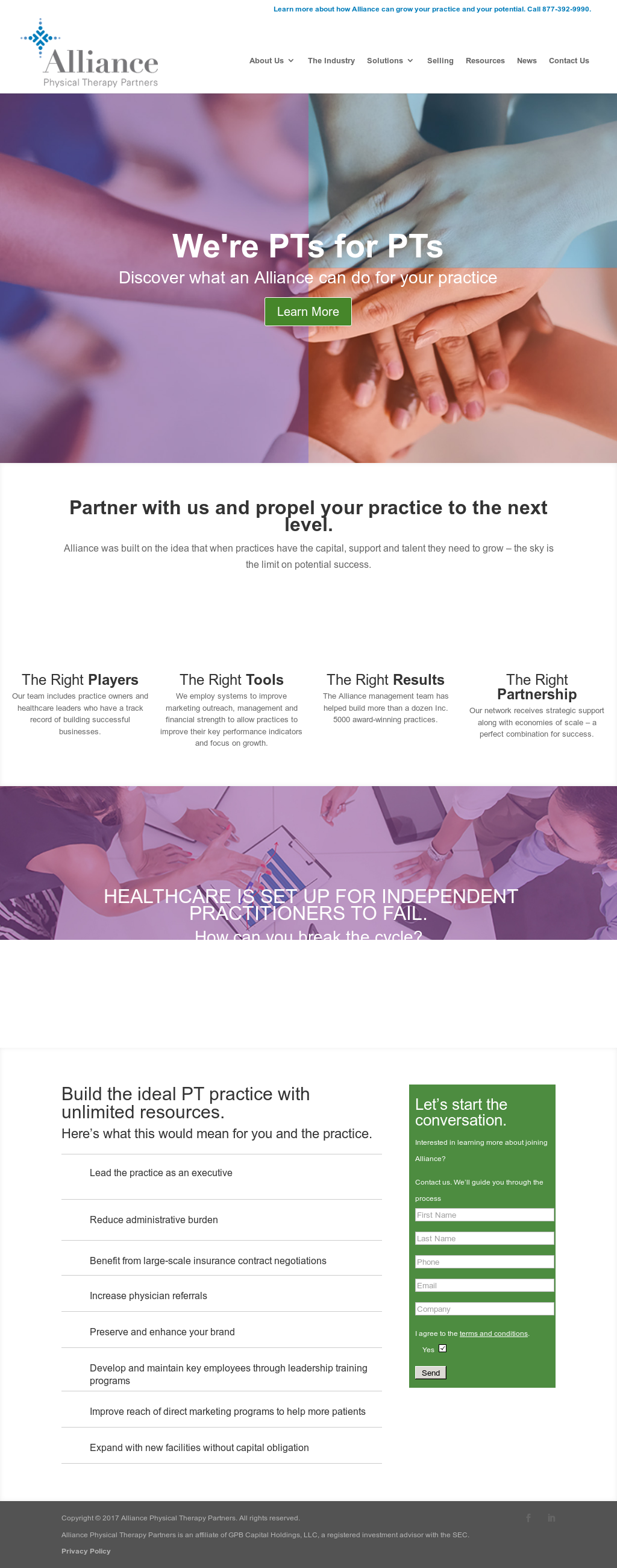 Alliance Physical Therapy Partners Competitors, Revenue and