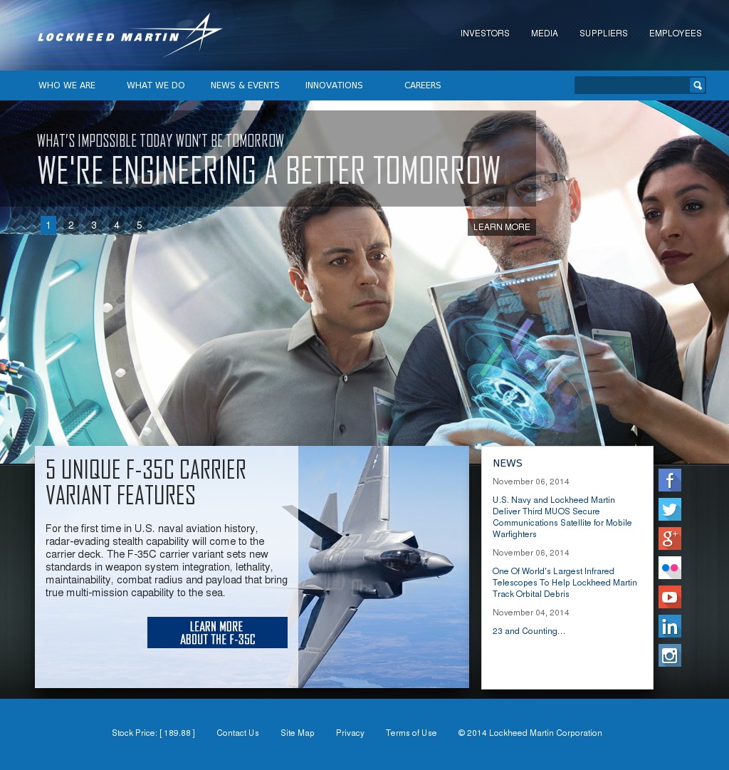 the company profile of lockheed marin corporation Lockheed martin corp engages in the research, design, development,  manufacture, integration, and sustainment of technology systems, products, and  services.