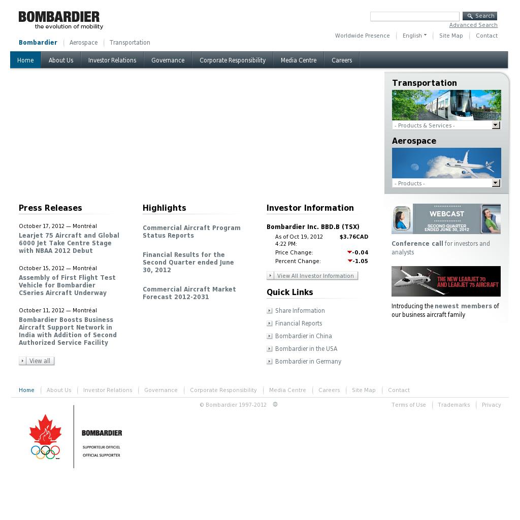 bombardier competitors analysis