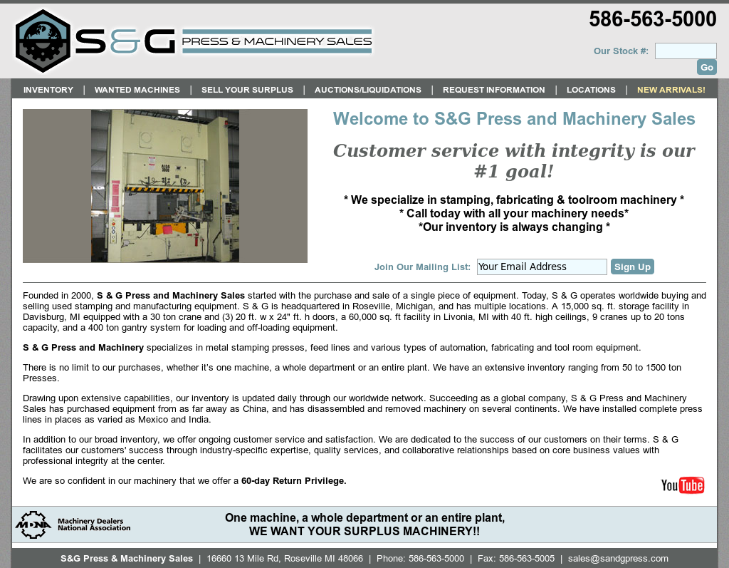 S&G Press & Machinery Sales Competitors, Revenue and