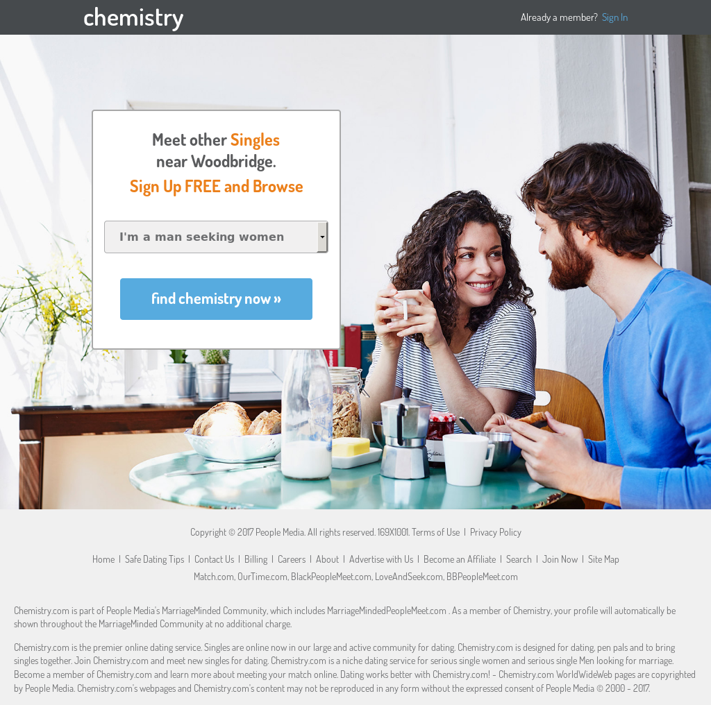 Chemistry dating site profiles
