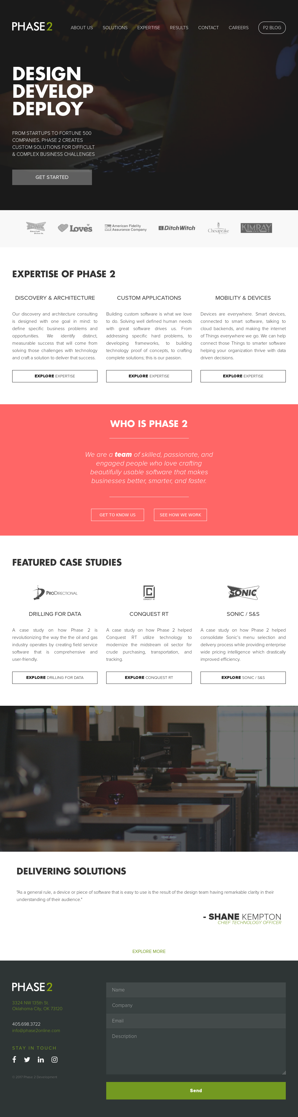 Phase 2 Interactive website history Phase 2