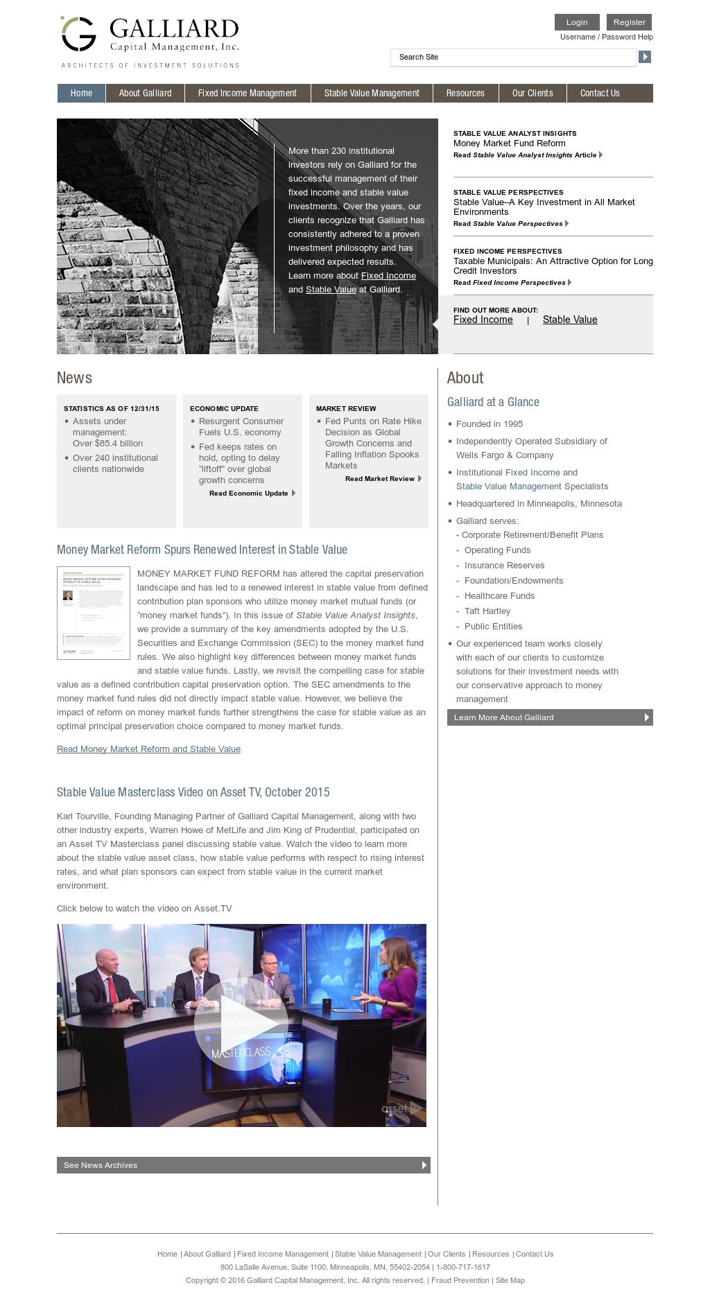 Galliard Capital Management Competitors, Revenue and