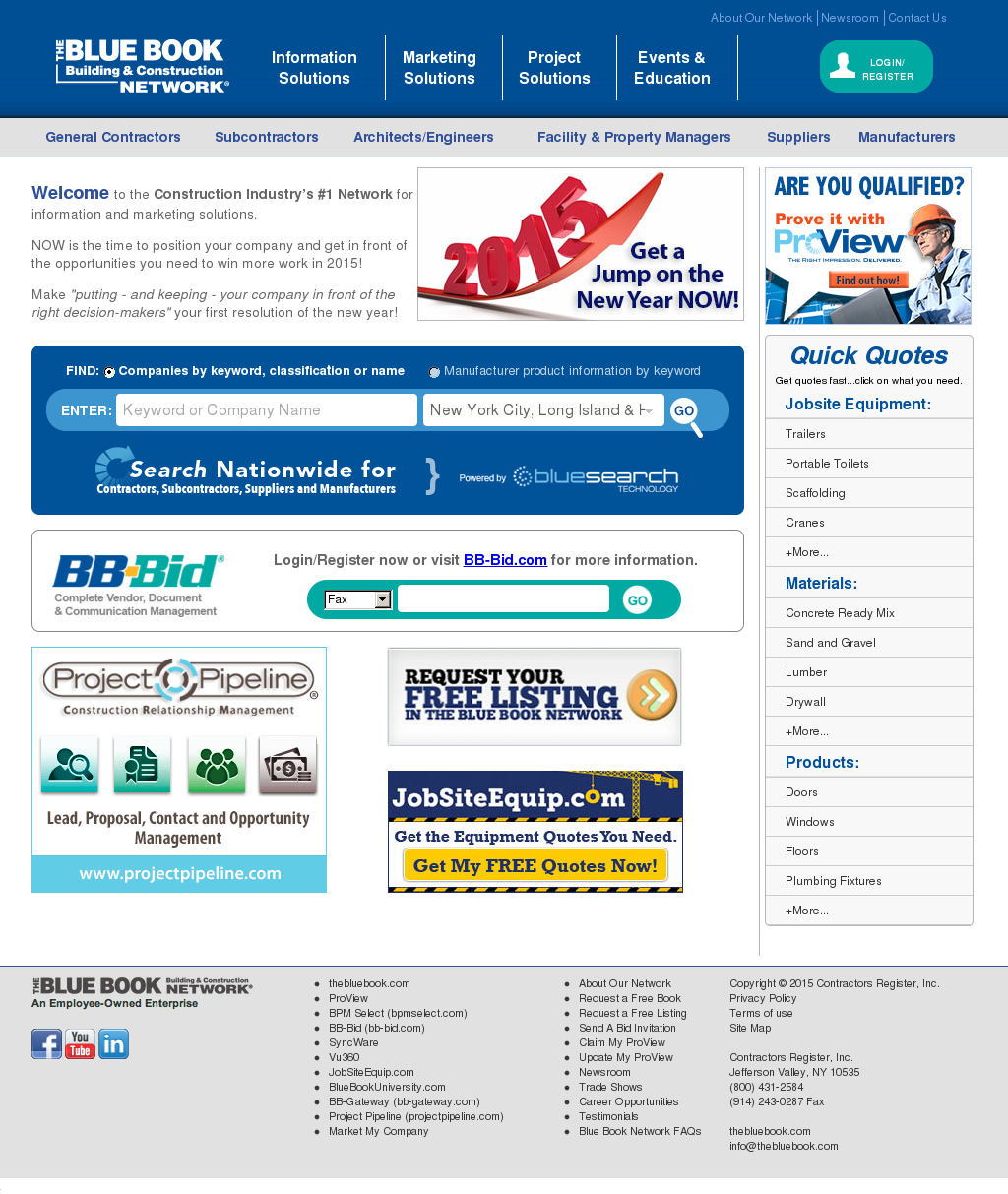 Construction Blue Book >> The Blue Book Building And Construction Network Competitors