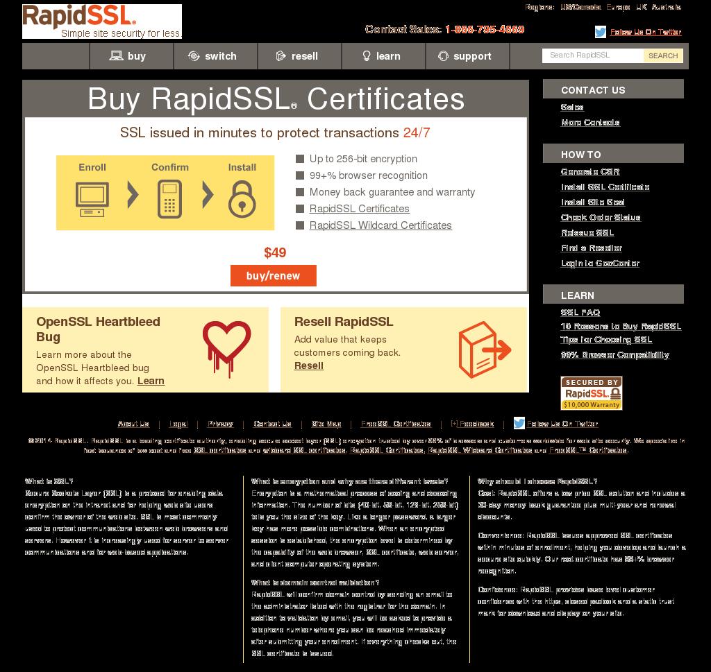 Rapidssl Competitors Revenue And Employees Owler Company Profile