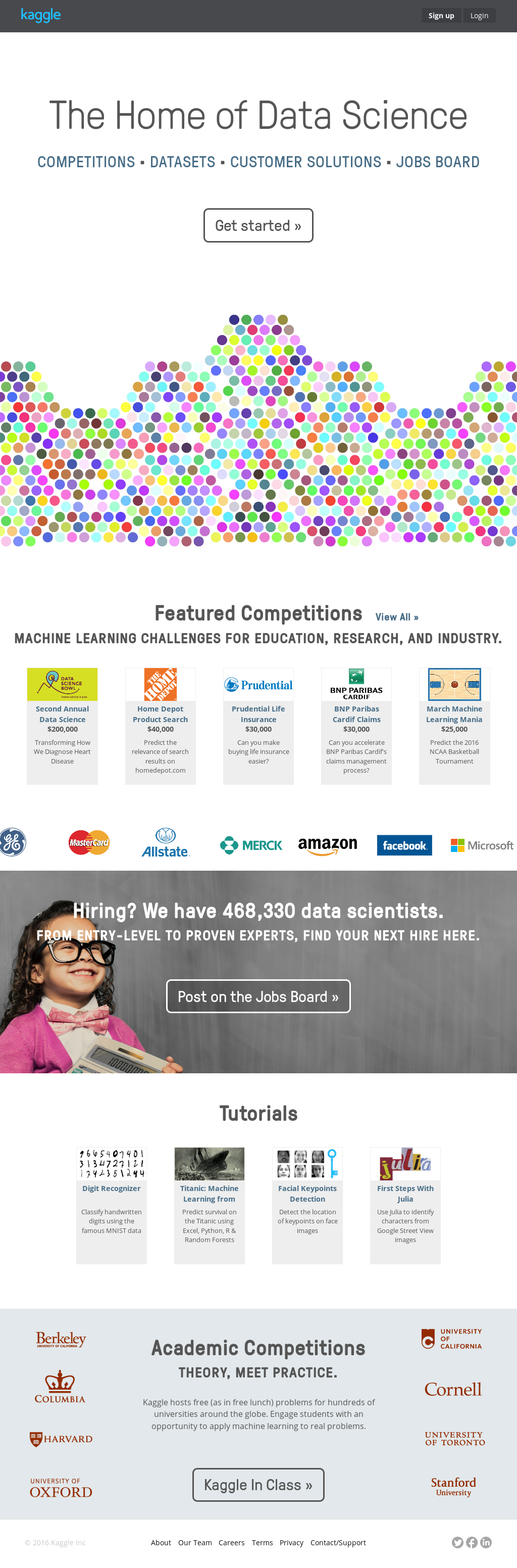 Kaggle Competitors, Revenue and Employees - Owler Company