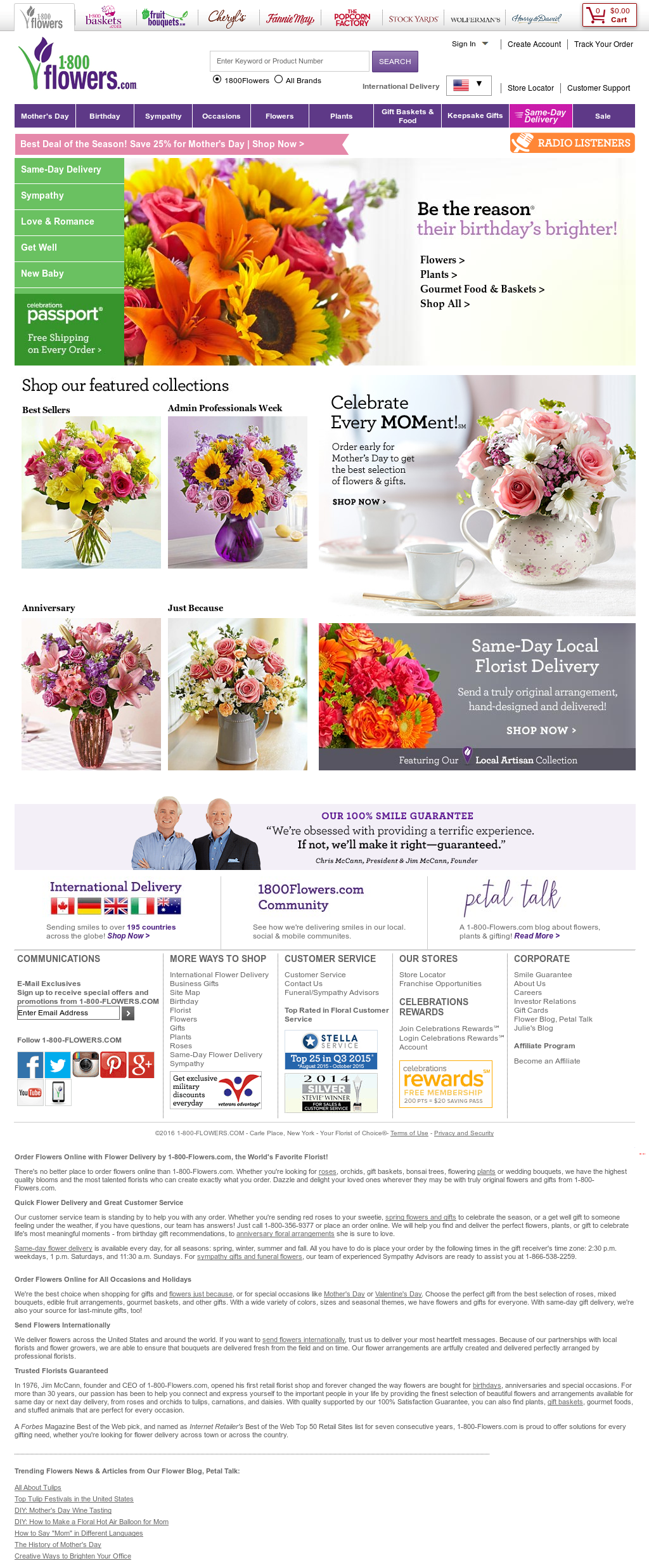 1 800 Flowers Competitors Revenue And Employees Owler