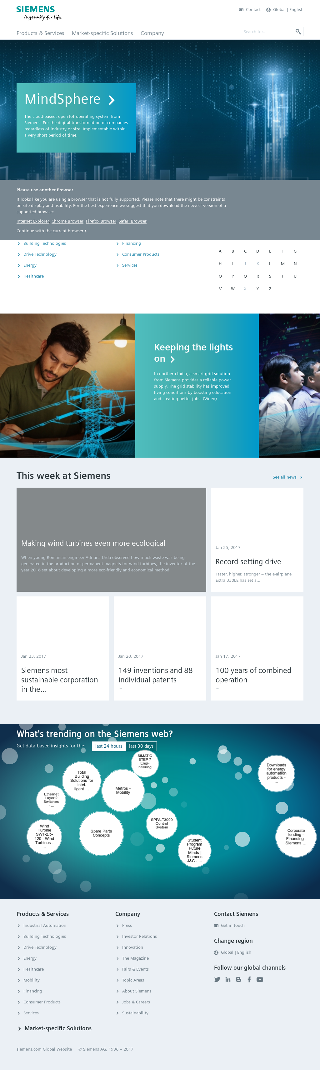 Siemens Competitors Revenue And Employees Owler Company Profile Wiring Up Carling Switches Website History