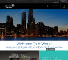 Johnson Controls website history