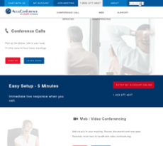 AccuConference website history