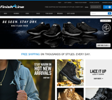 Finish Line website history