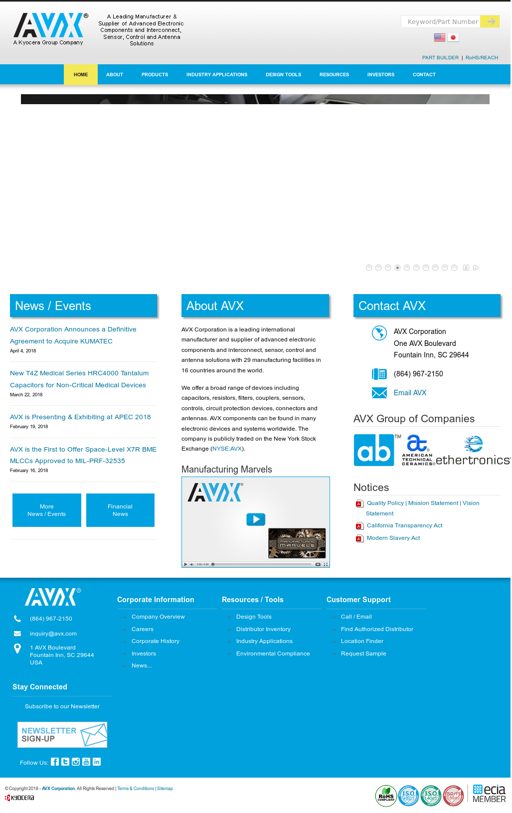 AVX Competitors, Revenue and Employees - Owler Company Profile