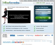 TollFreeForwarding website history