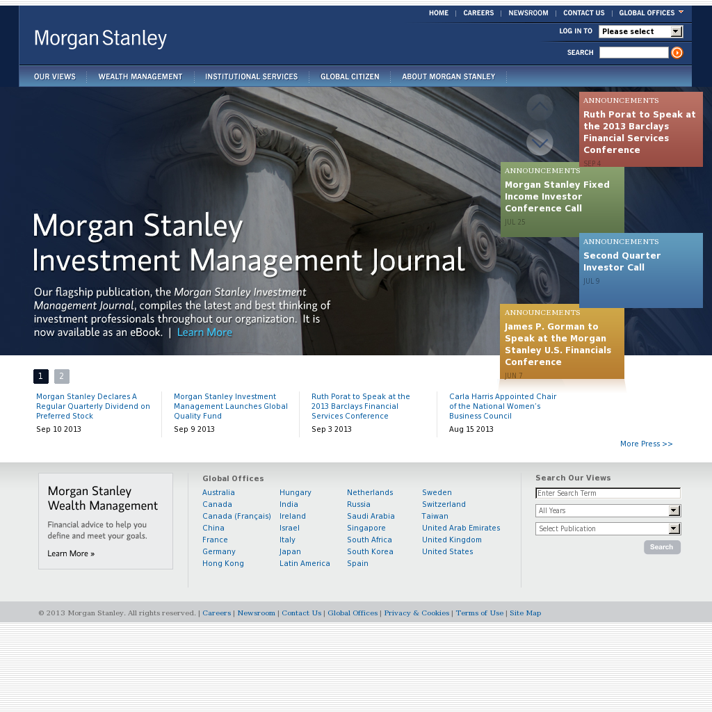 Morgan Stanley Competitors, Revenue and Employees - Owler Company