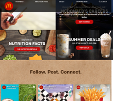 McDonald's website history