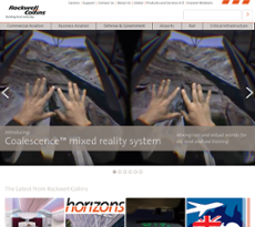 Rockwell Collins website history
